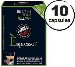 Capsule Biod�gradable/Compostable Espresso Lungo Intenso Caff� Vergnano x10 pour Nespresso