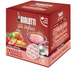 Capsules Mokespresso Bialetti Infusion Fraise Mangue x 12