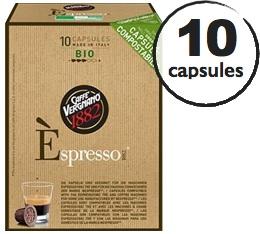 Capsule Biod�gradable/Compostable Espresso Bio Caff� Vergnano x10 pour Nespresso