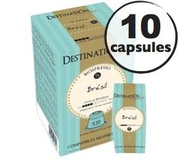 Capsules compatibles Nespresso Biospresso Br�sil x10 Destination