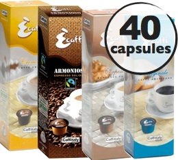 S�lection d�couverte 40 Capsules Caffitaly (100% Arabica et Blend)