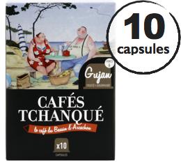Capsules Gujan Cafés Tchanqué x10 pour Nespresso