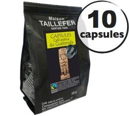 Capsules Arabica du Guatemala Max Havelaar x 10 Taillefer pour Nespresso