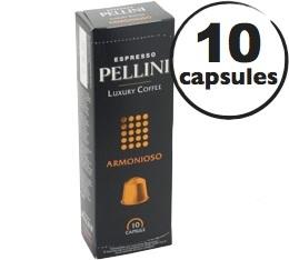 Capsules Pellini Armonioso x10 pour Nespresso