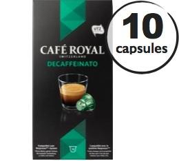 Capsules Caf� Royal Decaffeinato x 10 pour Nespresso