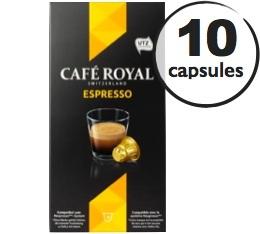 Capsules Caf� Royal Espresso x 10 pour Nespresso