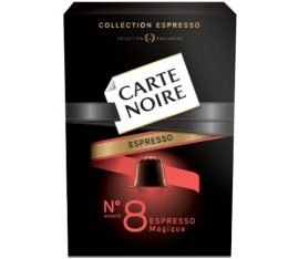 Capsules Carte Noire Espresso n°8 Magique x10 pour Nespresso