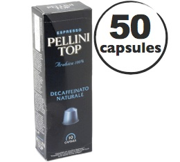 Capsules Pellini Top Decaffeinato x50 pour Nespresso