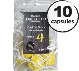 Capsules 100% Arabica (Force 4) x 10 Taillefer pour Nespresso