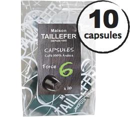 Capsules 100% Arabica (Force 6) x 10 Taillefer pour Nespresso