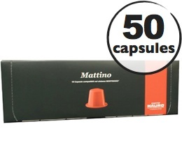 Capsules Mattino Caffè Mauro x50 pour Nespresso