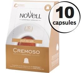Capsules Cremoso x10 Novell pour Nespresso