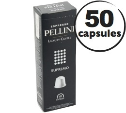 Capsules Pellini Supremo x50 pour Nespresso