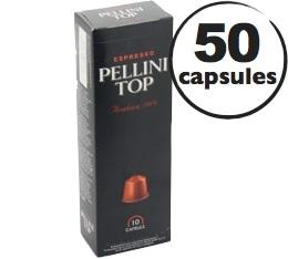 Capsules Pellini Top x50 pour Nespresso
