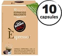 Capsule Biod�gradable/Compostable Espresso Macchiato Caff� Vergnano x10 pour Nespresso