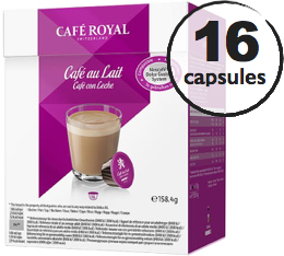 Capsules Dolce Gusto� compatibles Caf� Royal Caf� au Lait x 16
