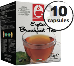 Capsules Dolce Gusto® compatibles Thé Noir English Breakfast x10