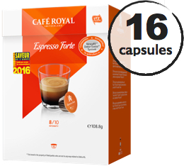 Capsules Dolce Gusto� compatibles Caf� Royal Espresso Forte x 16