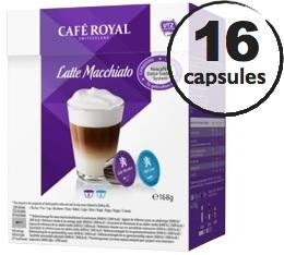 Capsules Dolce Gusto® compatibles Café Royal Latte Macchiato x 16