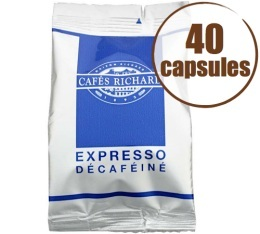 Caf� Capsules x40 Expresso FAP Decafein� - Caf�s RICHARD