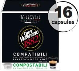 Capsule Lavazza a Modo Mio� compatible Arabica Caff� Vergnano x16