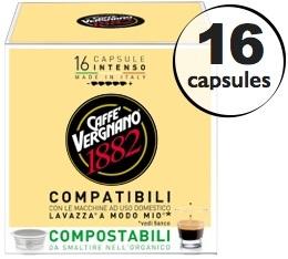 Capsule Lavazza a Modo Mio� compatible Intenso Caff� Vergnano x16