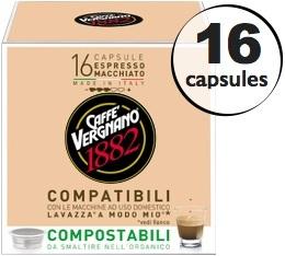Capsule Lavazza a Modo Mio� compatible Macchiato Caff� Vergnano x16