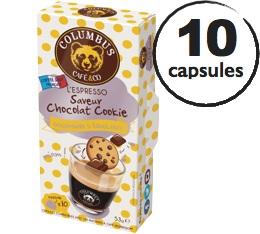 Capsules Saveur Chocolat Cookie Columbus Caf� & Co x10 pour Nespresso