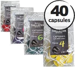 Pack découverte - Maison Taillefer - 40 capsules pour Nespresso