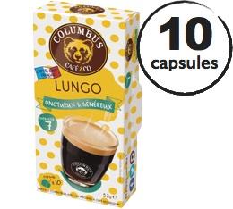 Capsules Lungo Columbus Caf� & Co x10 pour Nespresso