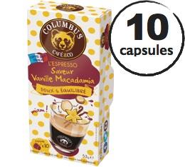 Capsules Saveur Vanille Macadamia Columbus Café & Co x10 pour Nespresso