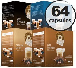 Pack d�couverte - 64 capsules compatibles Dolce Gusto� - Oquendo