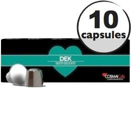 Capsules D�caffeinato x10 Cosmai pour Nespresso