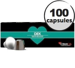 Capsules D�caffeinato x100 Cosmai pour Nespresso