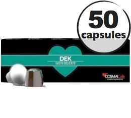 Capsules D�caffeinato x50 Cosmai pour Nespresso