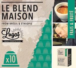 Capsules Le Blend Maison Caf�s Lugat x10 pour Nespresso