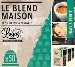 Capsules Le Blend Maison Cafés Lugat x50 pour Nespresso