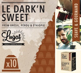 Capsules Le Dark'n Sweet Caf�s Lugat x10 pour Nespresso