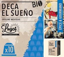 Capsules Deca El Sueño Cafés Lugat x10 pour Nespresso