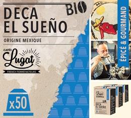 Capsules Deca El Sueño Cafés Lugat x50 pour Nespresso