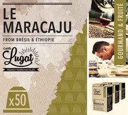 Capsules Le Maracaju Cafés Lugat x50 pour Nespresso