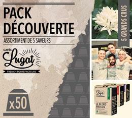 Pack découverte - Capsules Cafés Lugat x50 pour Nespresso