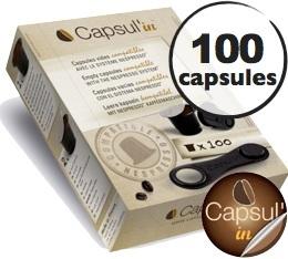 Capsul'in x 100 : capsules vides pour Nespresso