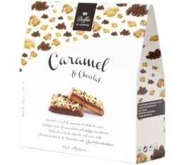 Caramel et Chocolat Lait & Amandes et �clats de cacao 200g - Dolfin