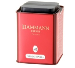 Bo�te Dammann n�402  - Infusion Carcadet Fragola - 100gr