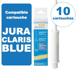 10 Cartouches BestCup BLUE compatible Jura ENA Claris BLUE