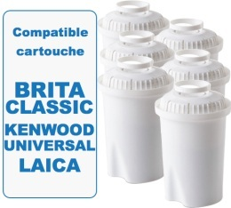 6 cartouches filtrante Filter Logic FL601G compatible Brita classic
