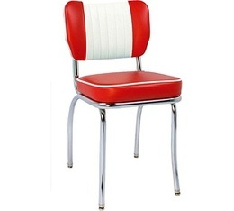Chaise de Diner Malibu SH Rouge/Blanc