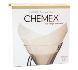 CHEMEX - 100 filtres blancs pour cafeti�re 6 � 8 tasses