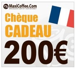 Ch�que Cadeau Maxicoffee 200�